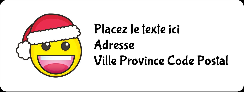 """1½"""" x 4"""" Étiquettes D'Adresse - Émojis des Fêtes"""