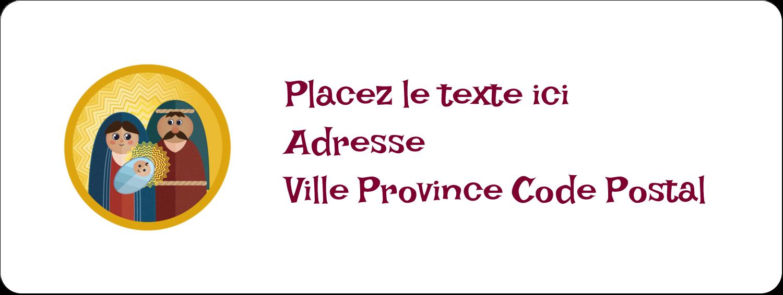 """1½"""" x 4"""" Étiquettes D'Adresse - Les gabarits Enfant Jésus pour votre prochain projet des Fêtes"""