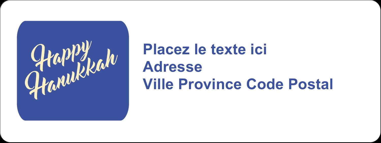 """1½"""" x 4"""" Étiquettes D'Adresse - Hanoukka florale"""