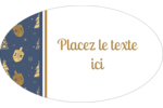 Motif HanouNoël Étiquettes carrées - gabarit prédéfini. <br/>Utilisez notre logiciel Avery Design & Print Online pour personnaliser facilement la conception.