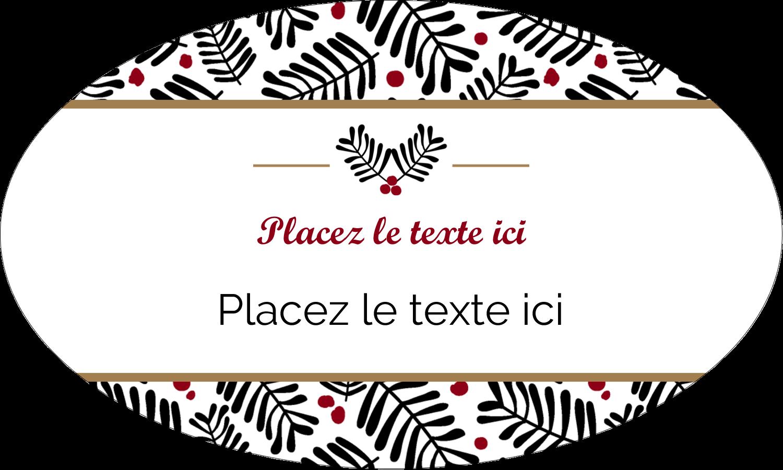"""1½"""" x 2½"""" Étiquettes ovales - Fleurs de Noël"""