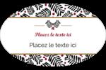 Fleurs de Noël Étiquettes ovales - gabarit prédéfini. <br/>Utilisez notre logiciel Avery Design & Print Online pour personnaliser facilement la conception.