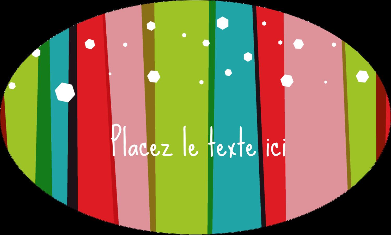"""1½"""" x 1½"""" Étiquettes carrées - Rayures de Noël rétro"""