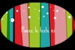 Rayures de Noël rétro Étiquettes carrées - gabarit prédéfini. <br/>Utilisez notre logiciel Avery Design & Print Online pour personnaliser facilement la conception.