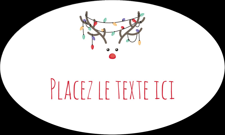 """1½"""" x 1½"""" Étiquettes carrées - Lumières sur panache de renne"""