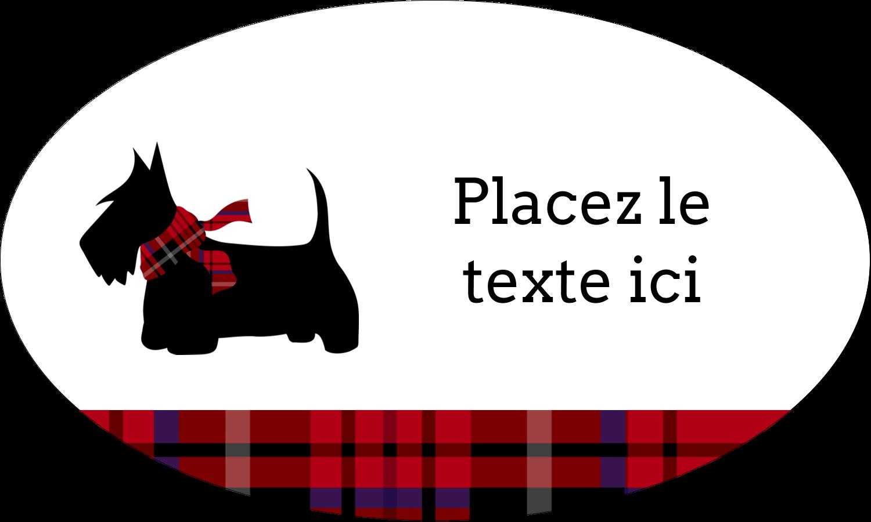 """1½"""" x 1½"""" Étiquettes carrées - Terrier écossais"""
