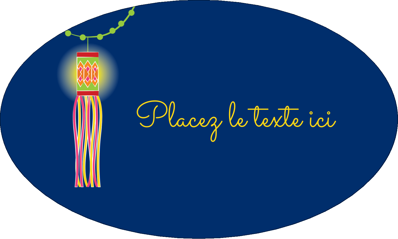 """1½"""" x 1½"""" Étiquettes carrées - Lanternes Divali"""