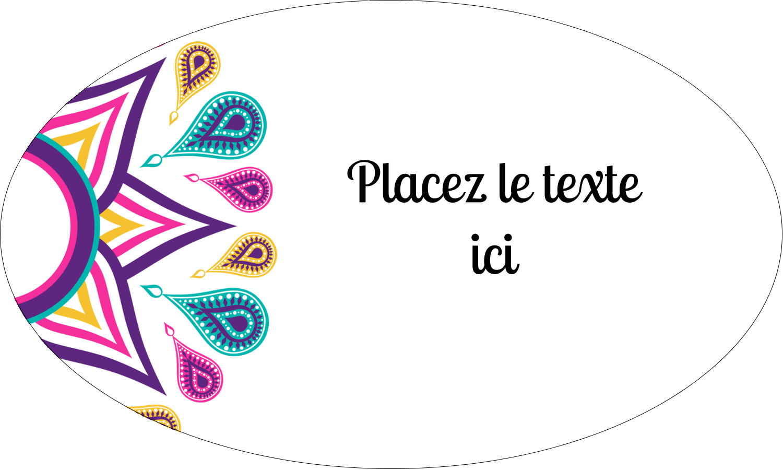 """1½"""" x 1½"""" Étiquettes carrées - Ruban Divali"""
