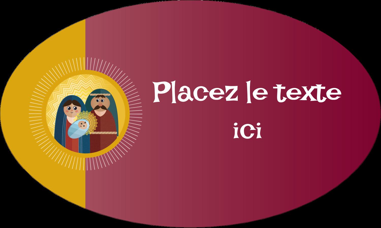 """1½"""" x 1½"""" Étiquettes carrées - Les gabarits Enfant Jésus pour votre prochain projet des Fêtes"""
