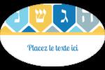 Toupie de Hanoukka Étiquettes carrées - gabarit prédéfini. <br/>Utilisez notre logiciel Avery Design & Print Online pour personnaliser facilement la conception.