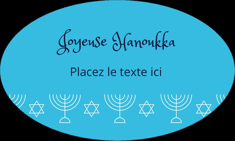 """1½"""" x 1½"""" Étiquettes carrées - Chandelier de Hanoukka"""