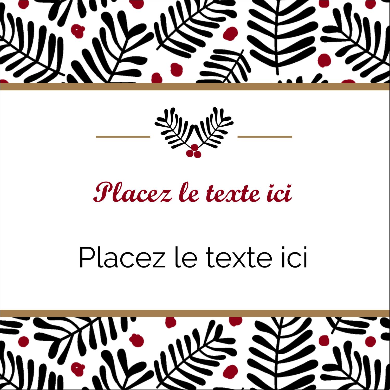 """2"""" x 2"""" Étiquettes carrées - Fleurs de Noël"""