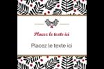 Fleurs de Noël Étiquettes carrées - gabarit prédéfini. <br/>Utilisez notre logiciel Avery Design & Print Online pour personnaliser facilement la conception.