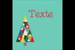 Sapin de Noël en kaléidoscope Étiquettes carrées - gabarit prédéfini. <br/>Utilisez notre logiciel Avery Design & Print Online pour personnaliser facilement la conception.