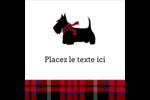 Terrier écossais Étiquettes carrées - gabarit prédéfini. <br/>Utilisez notre logiciel Avery Design & Print Online pour personnaliser facilement la conception.