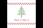 Sapin en point de croix Étiquettes carrées - gabarit prédéfini. <br/>Utilisez notre logiciel Avery Design & Print Online pour personnaliser facilement la conception.