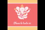 Ganesh Divali  Étiquettes carrées - gabarit prédéfini. <br/>Utilisez notre logiciel Avery Design & Print Online pour personnaliser facilement la conception.
