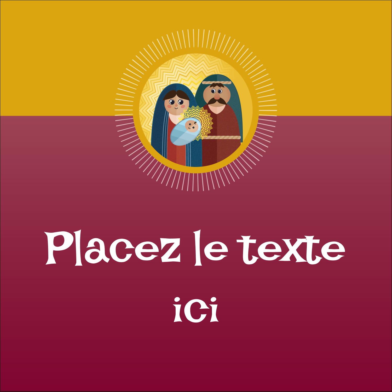 """2"""" x 2"""" Étiquettes carrées - Les gabarits Enfant Jésus pour votre prochain projet des Fêtes"""