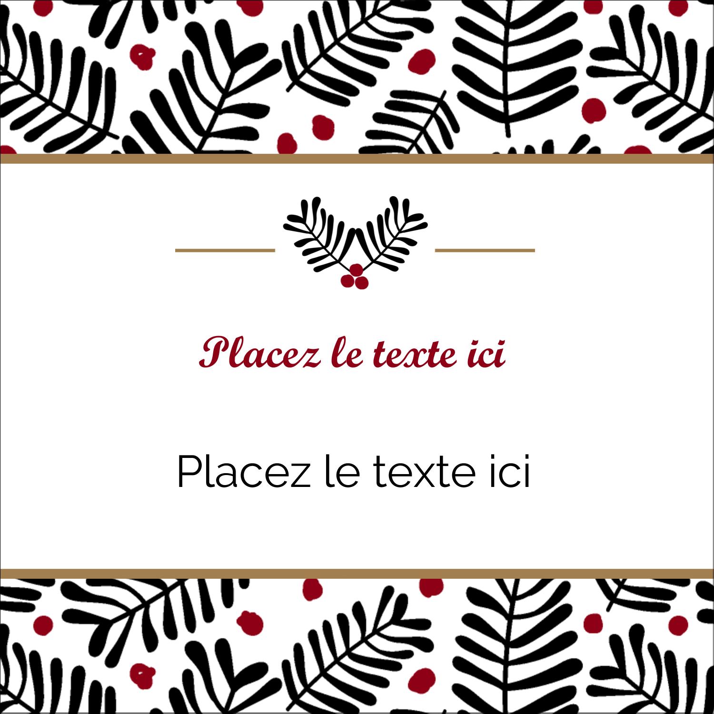 """2"""" Diameter Étiquettes rondes - Fleurs de Noël"""