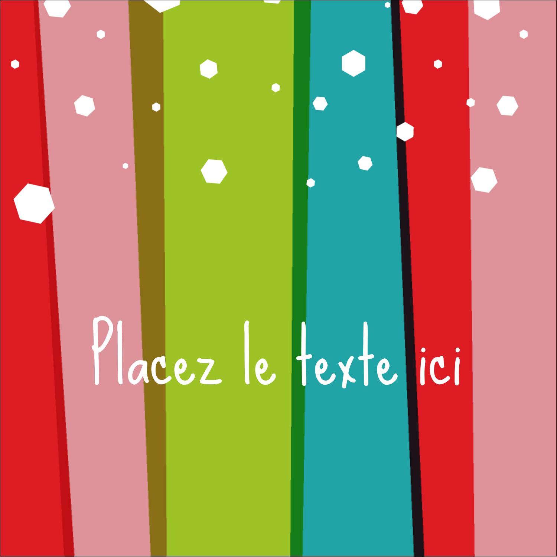 """2"""" Diameter Étiquettes rondes - Rayures de Noël rétro"""