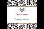 Fleurs de Noël Étiquettes enveloppantes - gabarit prédéfini. <br/>Utilisez notre logiciel Avery Design & Print Online pour personnaliser facilement la conception.