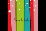 Rayures de Noël rétro Étiquettes enveloppantes - gabarit prédéfini. <br/>Utilisez notre logiciel Avery Design & Print Online pour personnaliser facilement la conception.