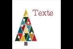 Sapin de Noël en kaléidoscope Kraft Étiquettes carrées - gabarit prédéfini. <br/>Utilisez notre logiciel Avery Design & Print Online pour personnaliser facilement la conception.