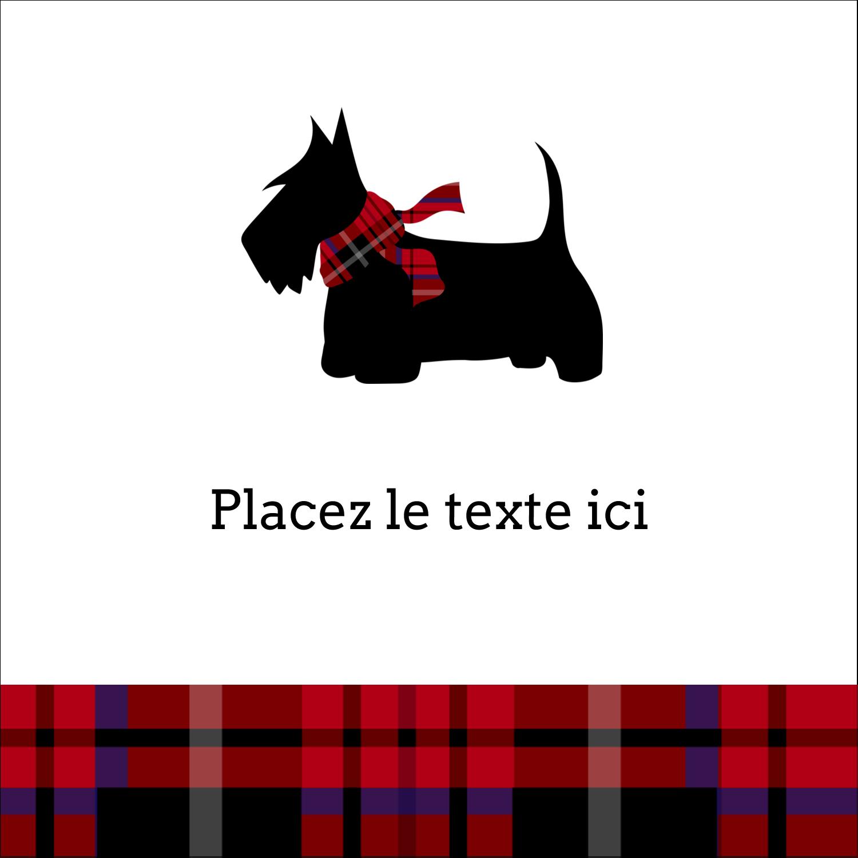 """9¾"""" x 1¼"""" Étiquettes enveloppantes - Terrier écossais"""