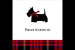 Terrier écossais Étiquettes enveloppantes - gabarit prédéfini. <br/>Utilisez notre logiciel Avery Design & Print Online pour personnaliser facilement la conception.
