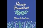 Hanoukka florale Étiquettes enveloppantes - gabarit prédéfini. <br/>Utilisez notre logiciel Avery Design & Print Online pour personnaliser facilement la conception.