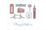 Les gabarits Fêtes à Londres pour votre prochain projet Étiquettes enveloppantes - gabarit prédéfini. <br/>Utilisez notre logiciel Avery Design & Print Online pour personnaliser facilement la conception.