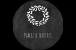Guirlande sur tableau noir Étiquettes rondes - gabarit prédéfini. <br/>Utilisez notre logiciel Avery Design & Print Online pour personnaliser facilement la conception.