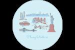 Les gabarits Fêtes à New York pour votre prochain projet Étiquettes rondes - gabarit prédéfini. <br/>Utilisez notre logiciel Avery Design & Print Online pour personnaliser facilement la conception.