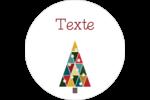 Sapin de Noël en kaléidoscope Étiquettes rondes Kraft - gabarit prédéfini. <br/>Utilisez notre logiciel Avery Design & Print Online pour personnaliser facilement la conception.