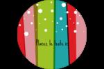 Rayures de Noël rétro Étiquettes arrondies - gabarit prédéfini. <br/>Utilisez notre logiciel Avery Design & Print Online pour personnaliser facilement la conception.