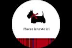 Terrier écossais Étiquettes arrondies - gabarit prédéfini. <br/>Utilisez notre logiciel Avery Design & Print Online pour personnaliser facilement la conception.