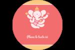 Ganesh Divali  Étiquettes arrondies - gabarit prédéfini. <br/>Utilisez notre logiciel Avery Design & Print Online pour personnaliser facilement la conception.