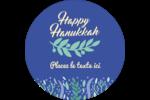 Hanoukka florale Étiquettes arrondies - gabarit prédéfini. <br/>Utilisez notre logiciel Avery Design & Print Online pour personnaliser facilement la conception.