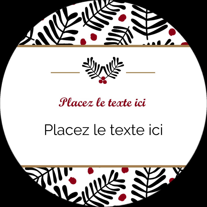 """3-7/16"""" x 15/16"""" Étiquettes de classement - Fleurs de Noël"""