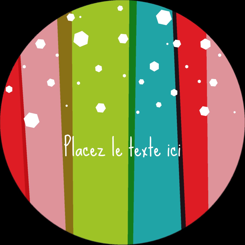 """3-7/16"""" x 15/16"""" Étiquettes de classement - Rayures de Noël rétro"""