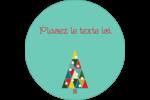 Sapin de Noël en kaléidoscope Étiquettes rondes - gabarit prédéfini. <br/>Utilisez notre logiciel Avery Design & Print Online pour personnaliser facilement la conception.