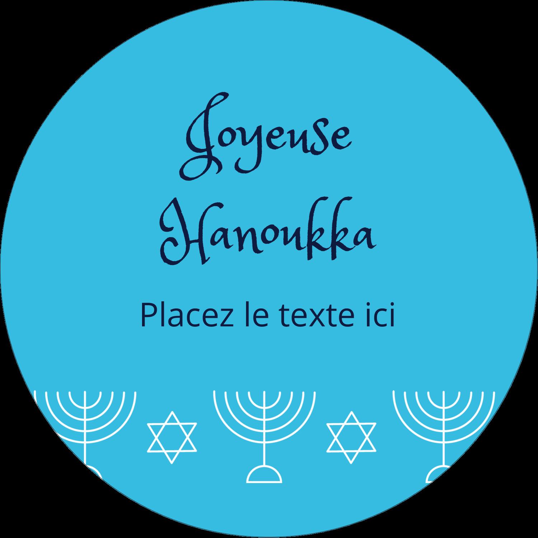 """3-7/16"""" x 15/16"""" Étiquettes de classement - Chandelier de Hanoukka"""