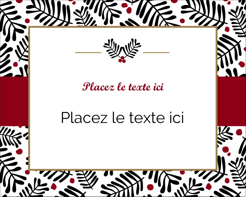 """2"""" Diameter Étiquettes rondes gaufrées - Fleurs de Noël"""