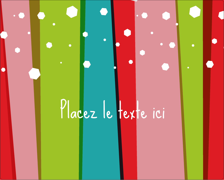 """2"""" Diameter Étiquettes rondes gaufrées - Rayures de Noël rétro"""