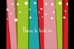Rayures de Noël rétro Étiquettes rondes gaufrées - gabarit prédéfini. <br/>Utilisez notre logiciel Avery Design & Print Online pour personnaliser facilement la conception.
