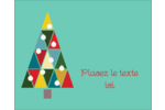 Sapin de Noël en kaléidoscope Étiquettes rectangulaires  - gabarit prédéfini. <br/>Utilisez notre logiciel Avery Design & Print Online pour personnaliser facilement la conception.