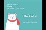 Ours polaire Étiquettes rondes gaufrées - gabarit prédéfini. <br/>Utilisez notre logiciel Avery Design & Print Online pour personnaliser facilement la conception.