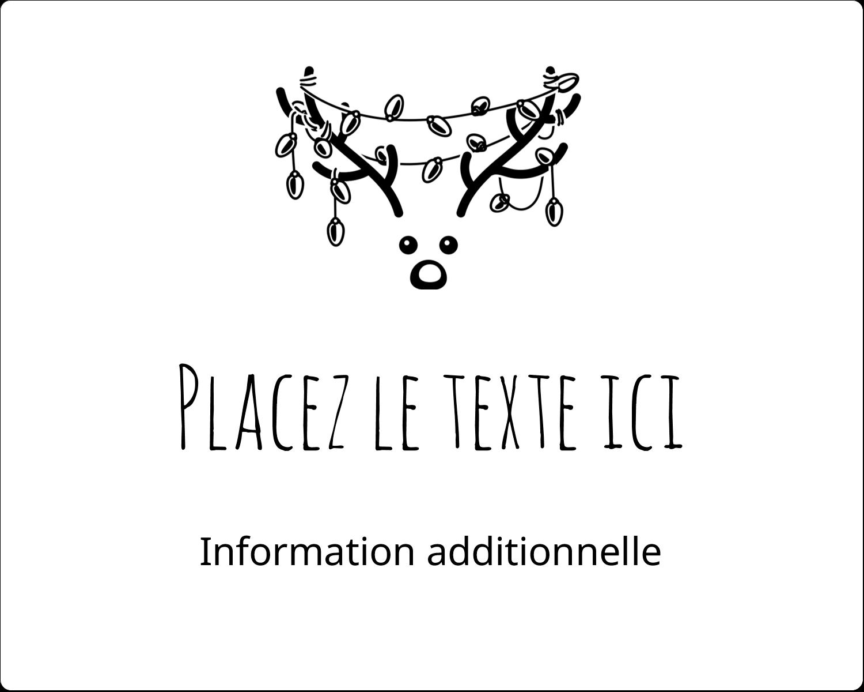 """2"""" Diameter Étiquettes rondes gaufrées - Lumières sur panache de renne"""