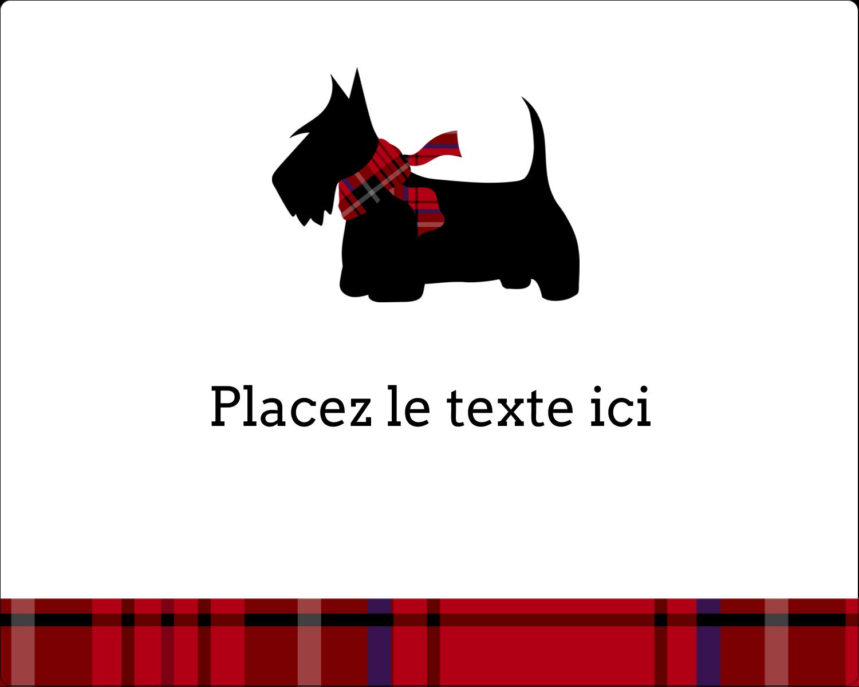 """2"""" Diameter Étiquettes rondes gaufrées - Terrier écossais"""