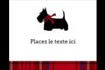 Terrier écossais Étiquettes rondes gaufrées - gabarit prédéfini. <br/>Utilisez notre logiciel Avery Design & Print Online pour personnaliser facilement la conception.